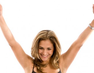 Woman Excited about online insurance quotes