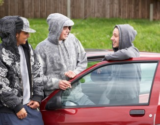 Young kids stealing a New Car