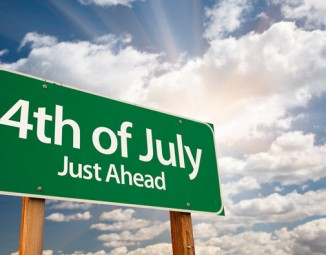 Fourth of July Road sign