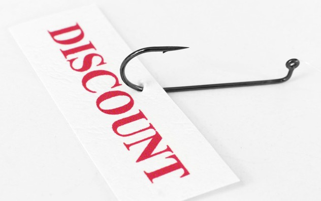 Discount on hook
