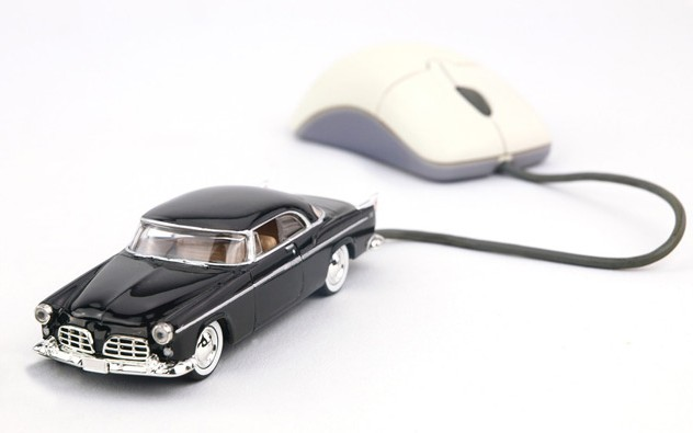 Black Classic Car, internet ready