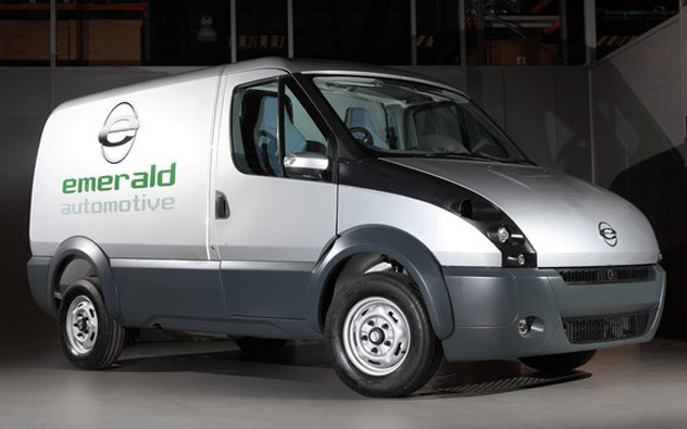Emerald automotive electric fleet van.