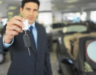 car dealer with keys